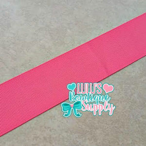 1.5 Solid Ribbon, Solid Grosgrain Ribbon, Passion Fruit Pink (almost Neon Pink) Solid Ribbon
