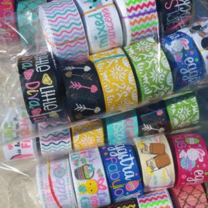 30 Yard Grab Bag Of PRINTED Jazzy Lu Ribbon - Ten 3 Yard Cuts - USD Ribbon , bow supplies, Bow making