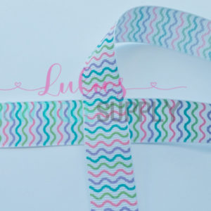 Colorful Waves Glitter and Ink US designer 7/8 Grosgrain Ribbon DIY ribbon~M2M Jesus ribbon - Matches Happy Happy Happy