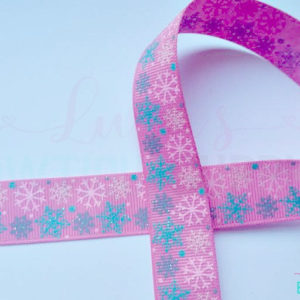 Printed Ribbon 7/8 OOAK Snowflakes Winter Ribbon Glitter Grosgrain Ribbon Ribbon Snowflake, Foiled Ribbon Jazzy Lu Ribbons