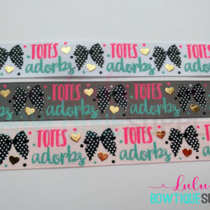 Printed Ribbon 7/8 Totes Adorbs Ribbon Chevron Dots Grosgrain Ribbon Ribbon Bows, Foiled Ribbon Jazzy Lu Ribbons